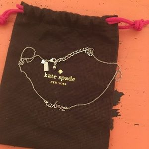 "Kate Spade ""Taken"" necklace NWOT"